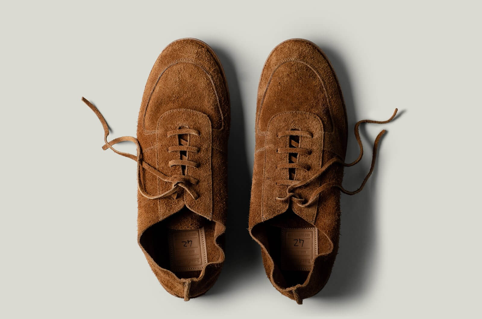 Pure Suede Shoes . Brown